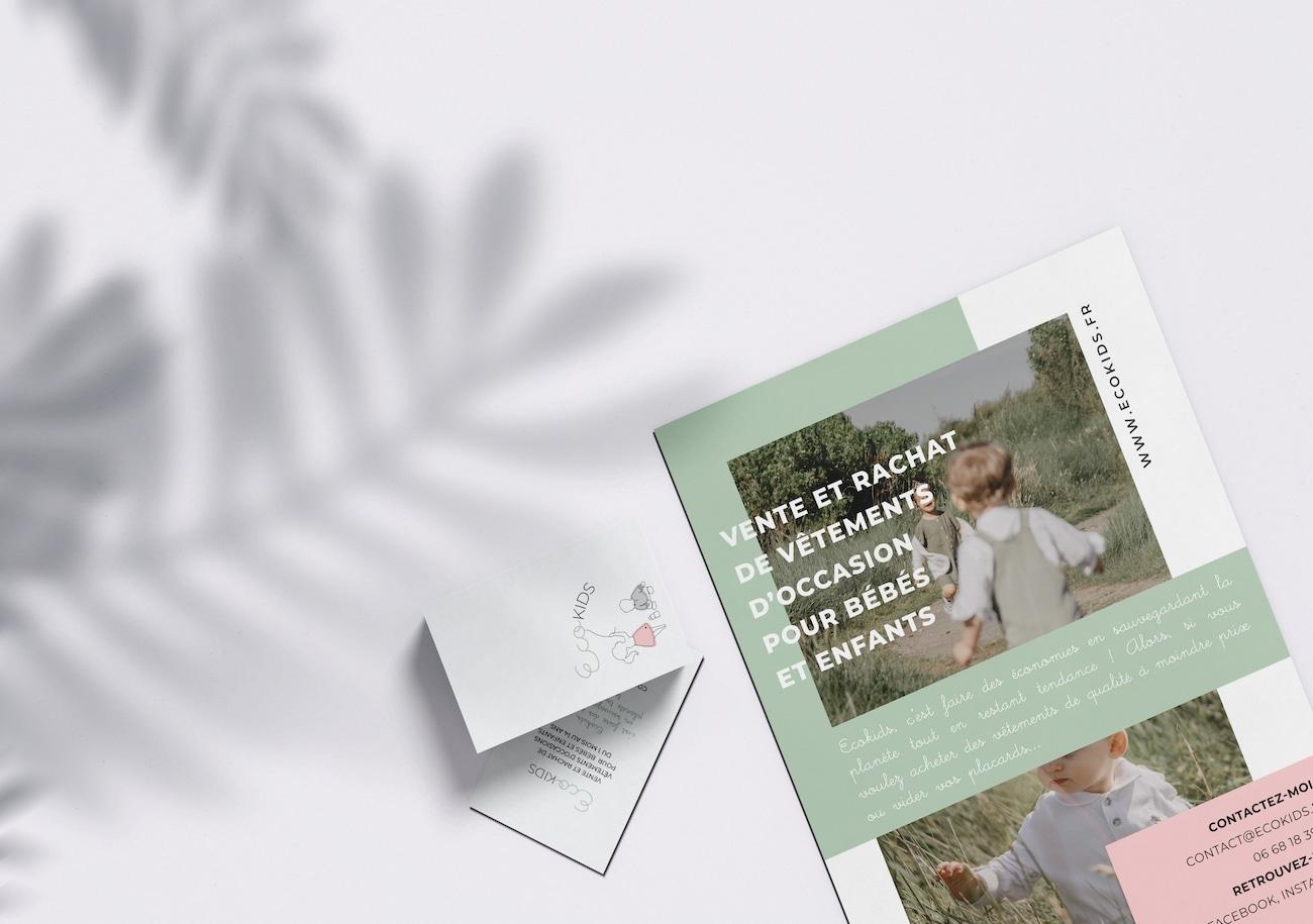 Création Flyer et Carte de Visite par Calyweb
