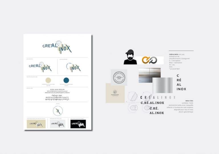 Identité visuelle de crealinox par calyweb