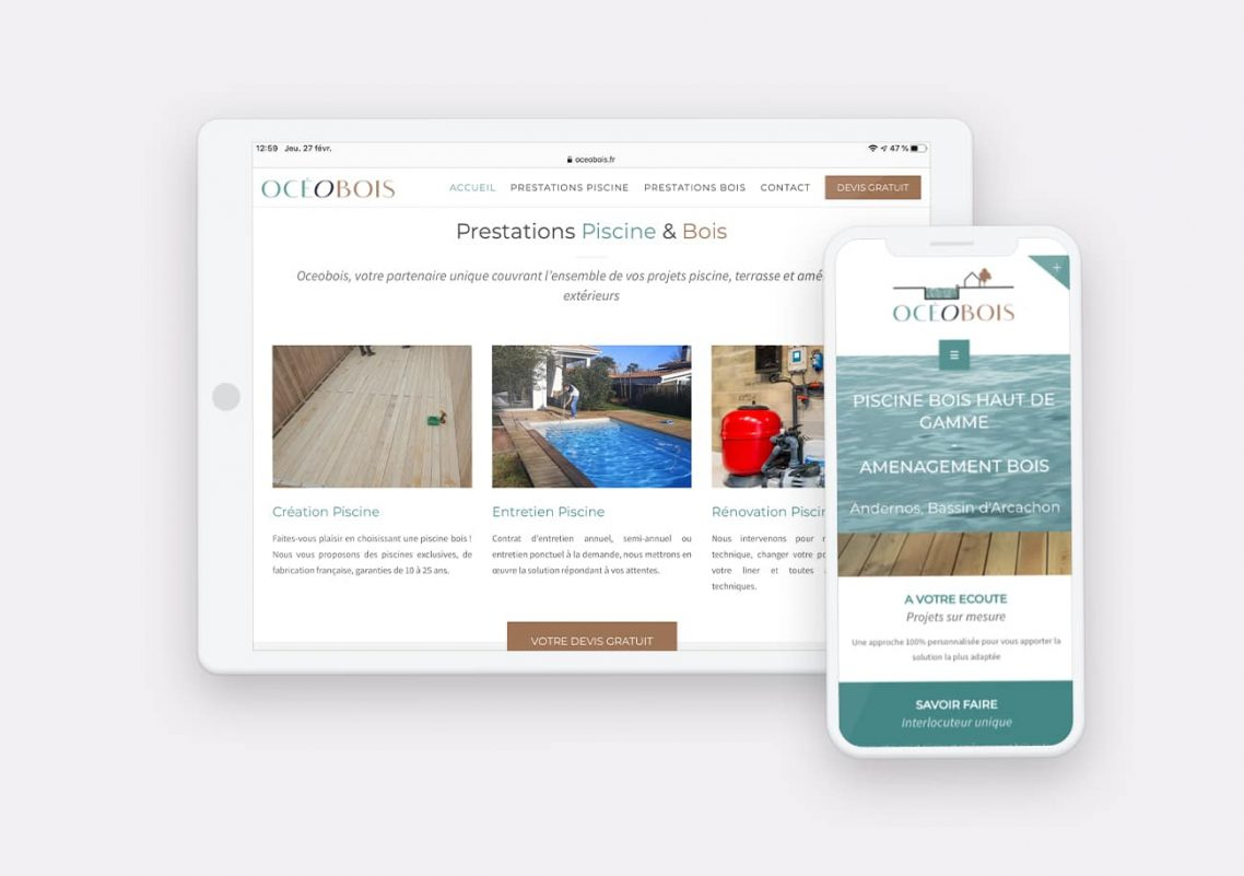 Création Site Oceobois par Calyweb