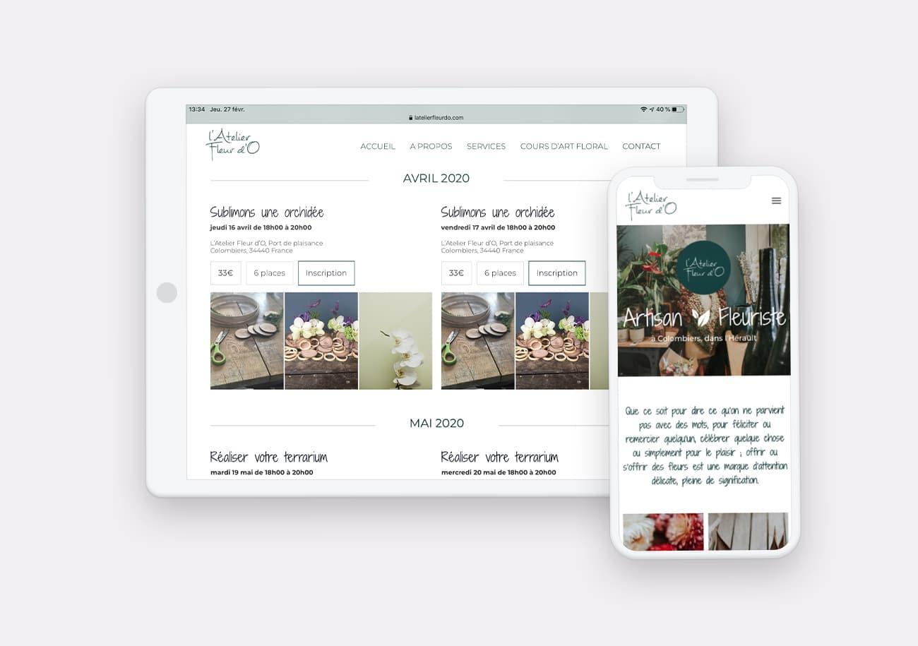 Création site internet Atelier Fleur dO par Calyweb