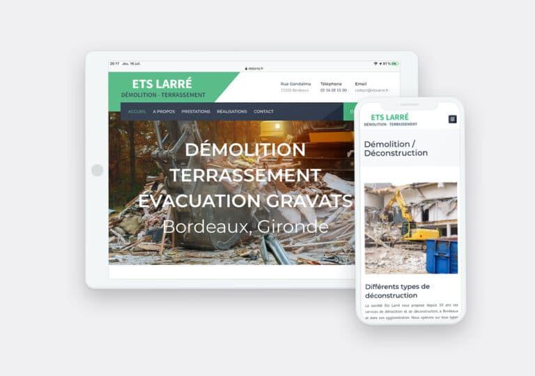 Création Site Web Ets Larré par Calyweb