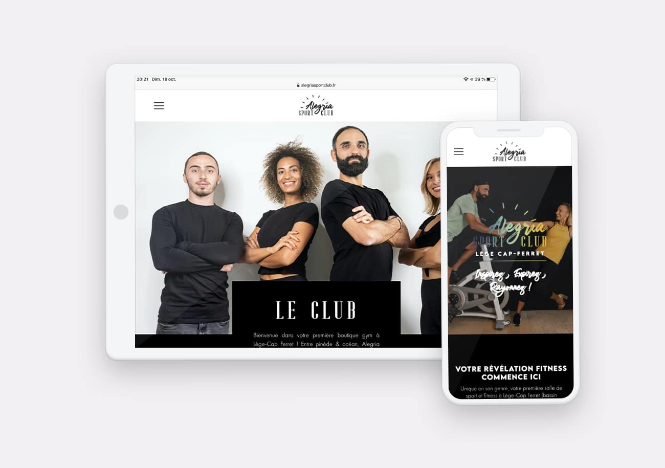 Creation Site Internet Alegria Sport Club by Calyweb