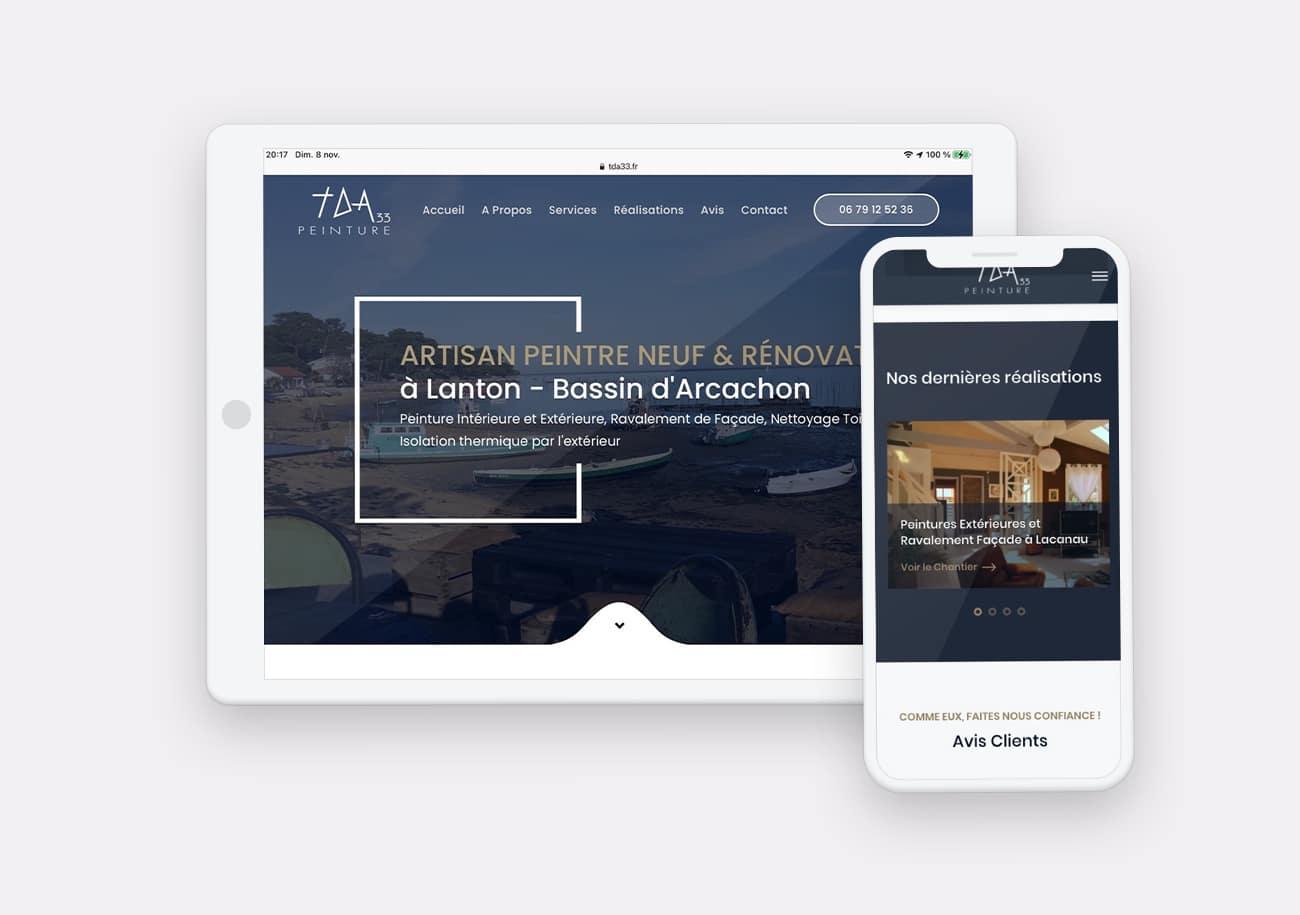 Creation site web TDA 33 par Calyweb