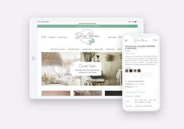 Creation Site Web DecoGreen par Calyweb