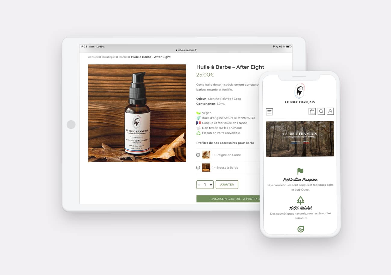 Creation Site Web Le Bouc Francais par Calyweb
