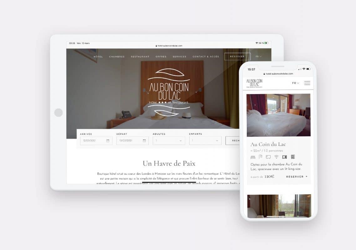Creation site internet au bon coin du lac by calyweb